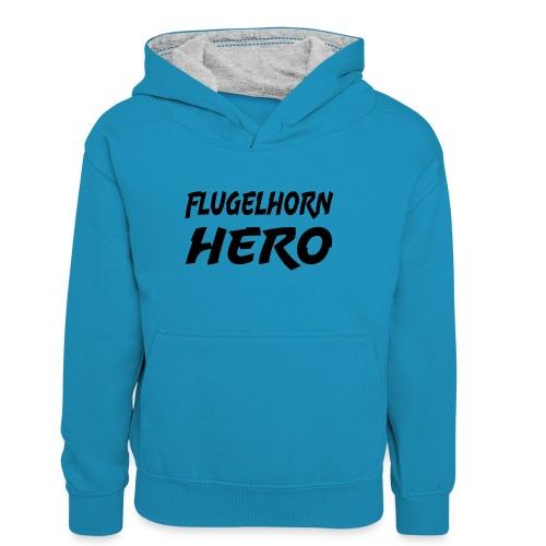 Flugelhorn Hero - Kontrast-hettegenser for tenåringer