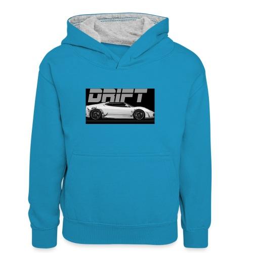 drift - Teenager Contrast Hoodie