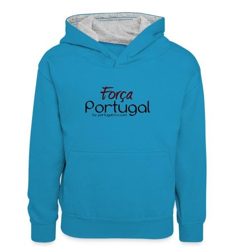 Força Portugal - Sweat à capuche contrasté Ado