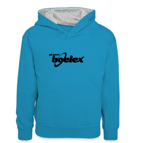 Planet Boelex logo black - Teenager Contrast Hoodie