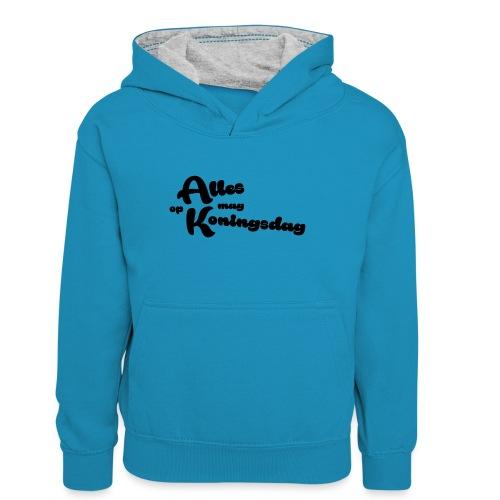 Alles mag op Koningsdag - Teenager contrast-hoodie