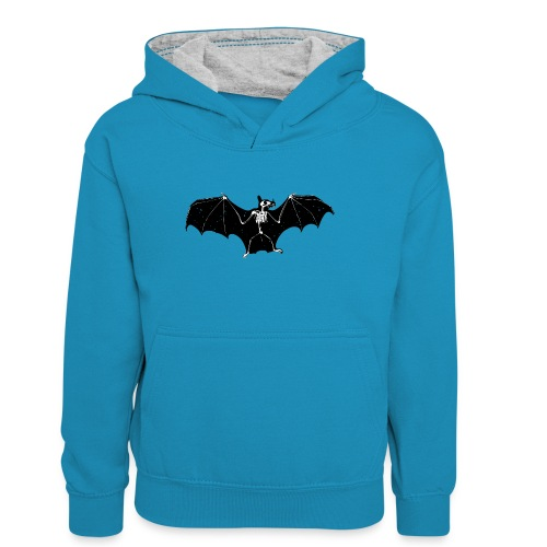Bat skeleton #1 - Teenager Contrast Hoodie