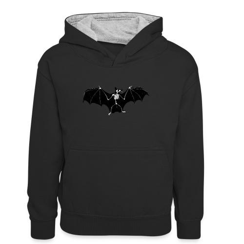 Bat skeleton #1 - Teenager Contrast Hoodie
