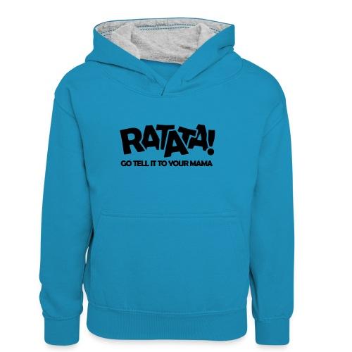 RATATA full - Teenager Kontrast-Hoodie