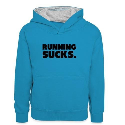 Running Sucks - Teinien kontrastivärinen huppari