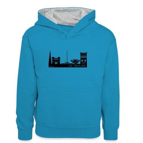 Lu skyline de Terni - Felpa con cappuccio in contrasto cromatico per ragazzi