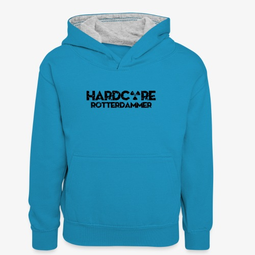 Hardcore Rotterdammer - Teenager contrast-hoodie