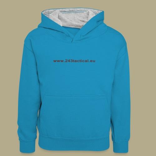 .243 Tactical Website - Teenager contrast-hoodie