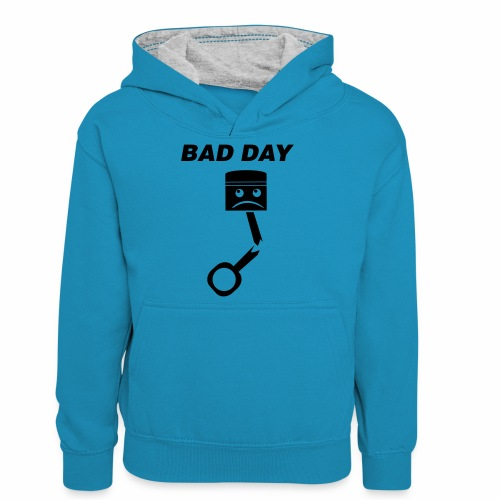 Bad Day - Teenager Kontrast-Hoodie