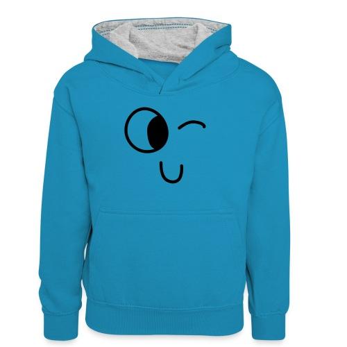 Jasmine's Wink - Teenager contrast-hoodie