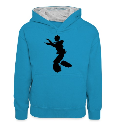 Wing Chun / Kung Fu Tusche Figur VEKTOR - Teenager Contrast Hoodie