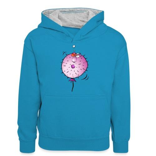 Blaasvis - Teenager contrast-hoodie