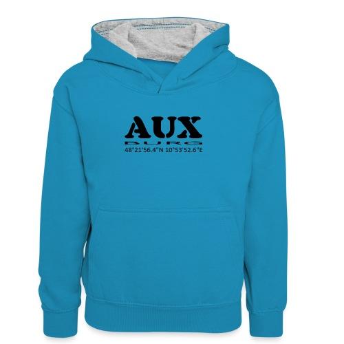 Auxburg - Teenager Kontrast-Hoodie