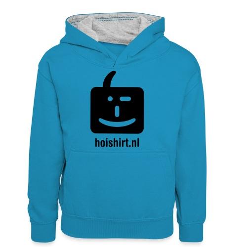 hoi back ai - Teenager contrast-hoodie