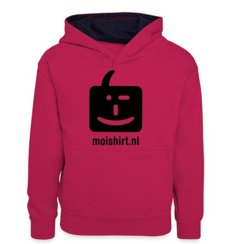 moi shirt back - Teenager contrast-hoodie