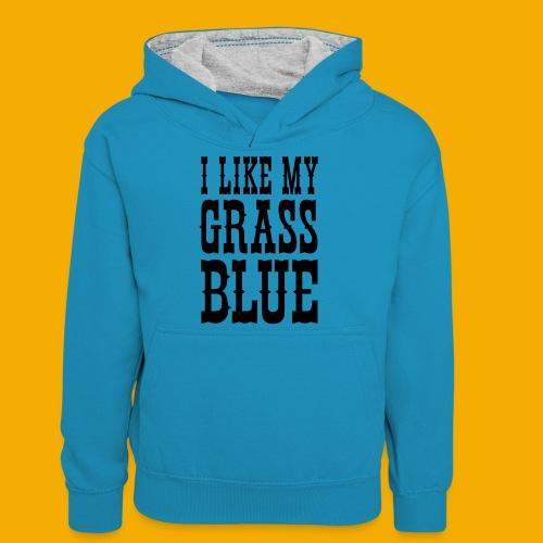 bluegrass - Teenager contrast-hoodie
