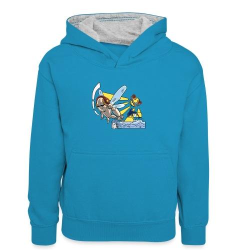 Sunshine buzz - Teenager contrast-hoodie
