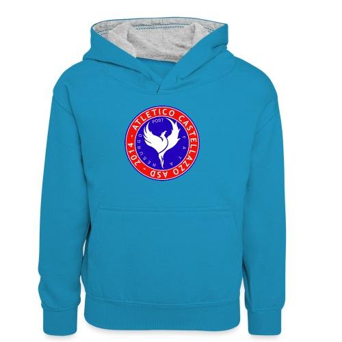 Logo Ufficiale Atletico Castellazzo - Felpa con cappuccio in contrasto cromatico per ragazzi