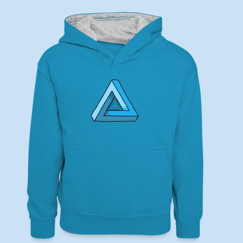Triangular - Teenager Kontrast-Hoodie