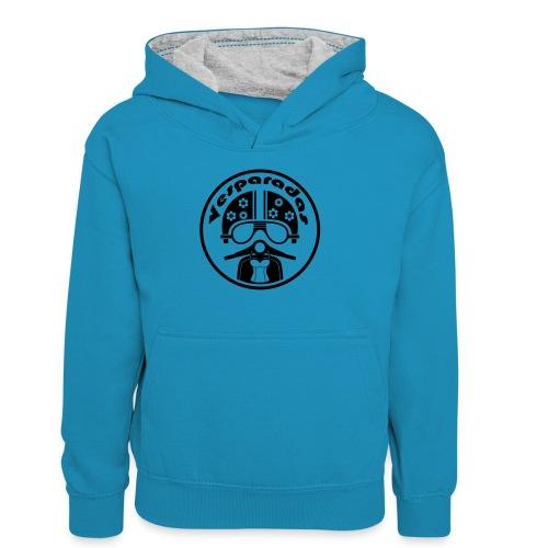 Vesparadas - Teenager contrast-hoodie