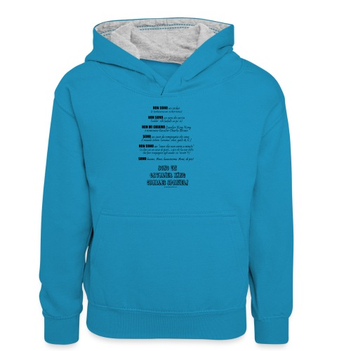 Vero standard Cavalier - Felpa con cappuccio in contrasto cromatico per ragazzi