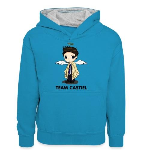 Team Castiel (light) - Teenager Contrast Hoodie