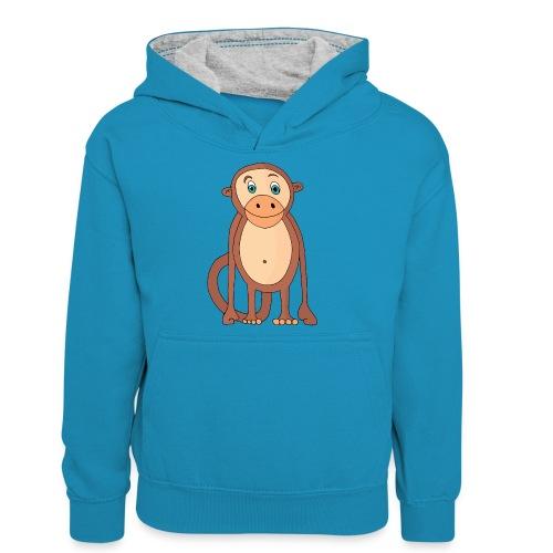 Bobo le singe - Sweat à capuche contrasté Ado