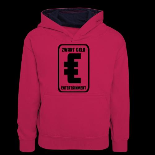 ZwartGeld Logo Sweater - Teenager contrast-hoodie