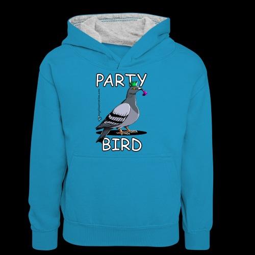 Party Bird - Teenager Contrast Hoodie