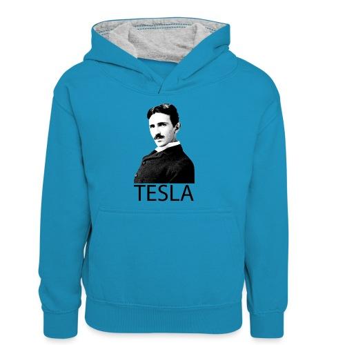 Tesla - Sweat à capuche contrasté Ado
