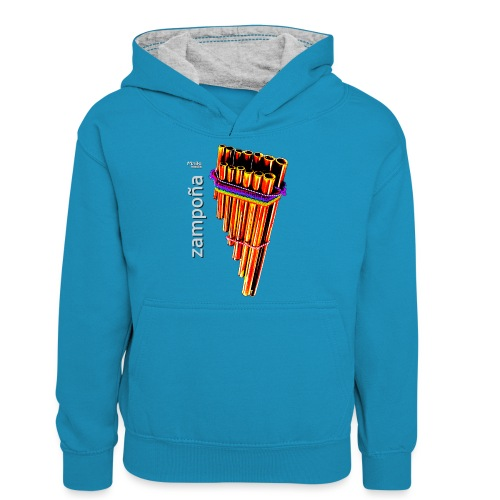 Zampoña clara - Sudadera con capucha para adolescentes