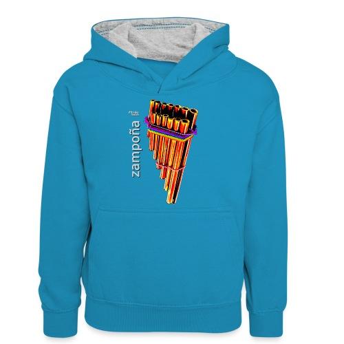 Zampoña clara - Teenager Contrast Hoodie