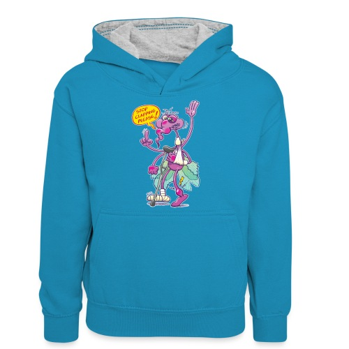 Moustique supplie de stopper les applaudissements - Teenager Contrast Hoodie