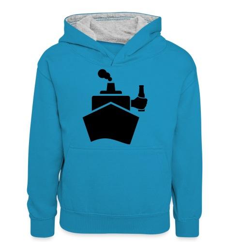 King of the boat - Teenager Kontrast-Hoodie