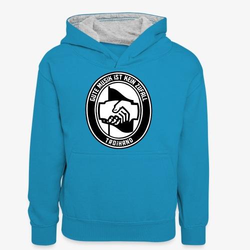Logo Troihand - Teenager Kontrast-Hoodie
