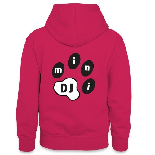 DJMini Logo - Kontrasthoodie teenager