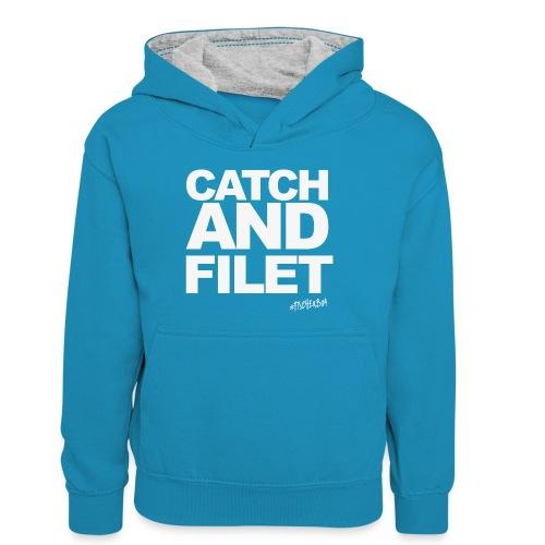 Catch and Filet - Teenager Kontrast-Hoodie