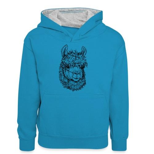 Alpaka - Teenager Kontrast-Hoodie