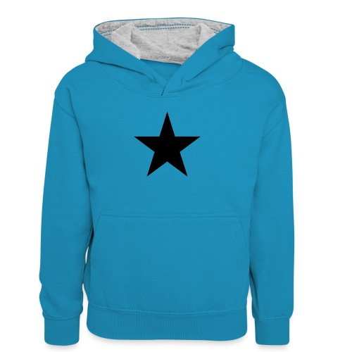 Ardrossan St.Pauli Black Star - Teenager Contrast Hoodie