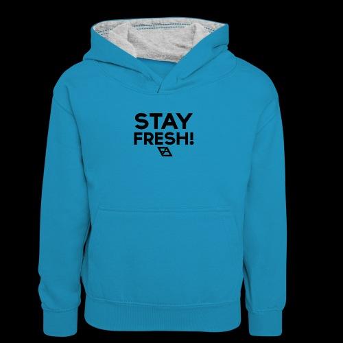 STAY FRESH! T-paita - Teinien kontrastivärinen huppari