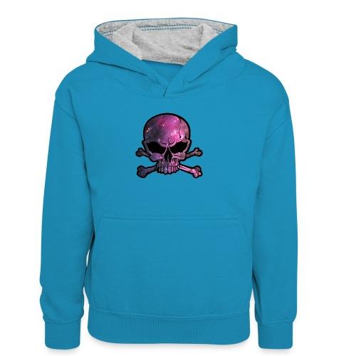 deathstar png - Teenager Contrast Hoodie