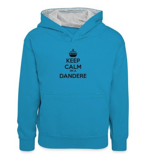 Dandere keep calm - Teenager Contrast Hoodie
