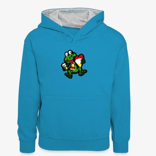 Oeteldonk Kikker - Teenager contrast-hoodie