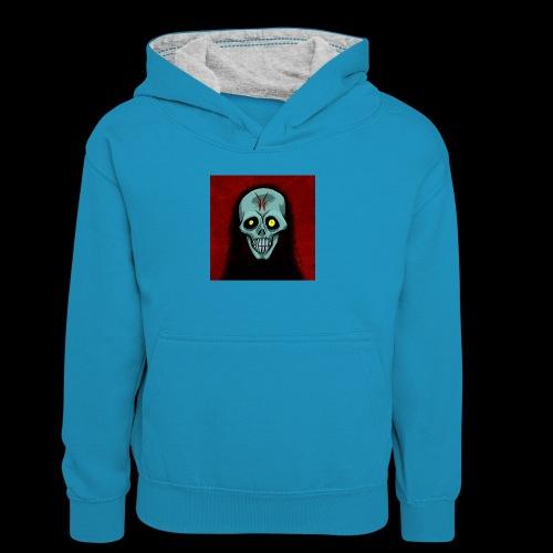 Ghost skull - Teenager Contrast Hoodie