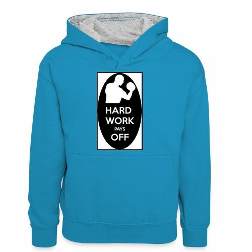 hard work pays off 2 cup.jpg - Teenager Contrast Hoodie