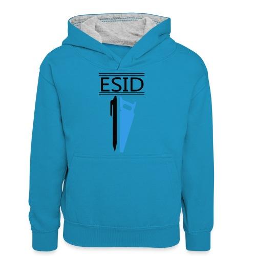 ESID Zwart-blauw - Teenager contrast-hoodie