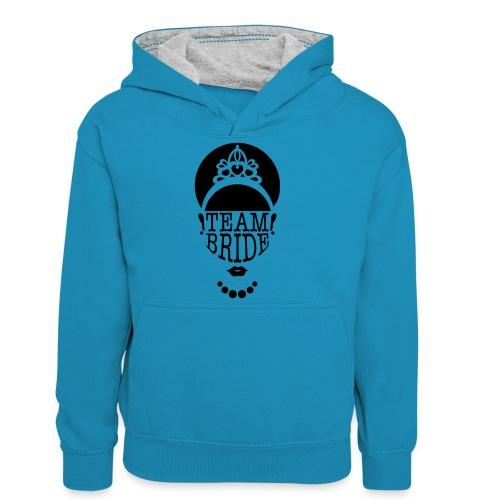 team bride - Teenager contrast-hoodie