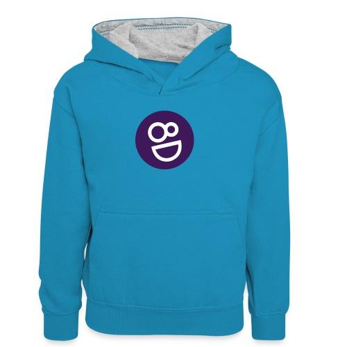 logo 8d - Teenager contrast-hoodie