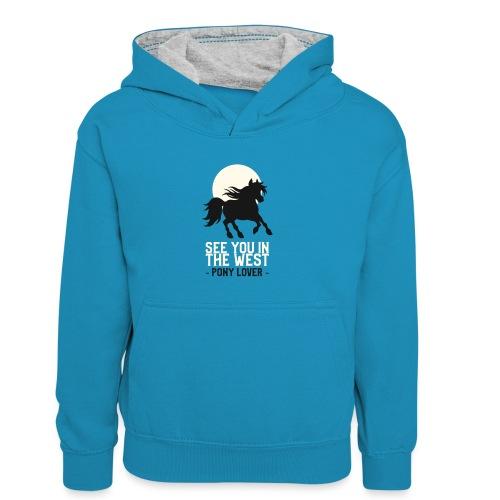 Silhouet pony design voor ponyliefhebbers - Teenager contrast-hoodie