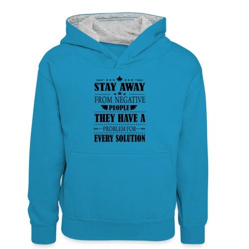 Stay away - Teinien kontrastivärinen huppari